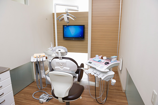 完全個室の治療ユニット